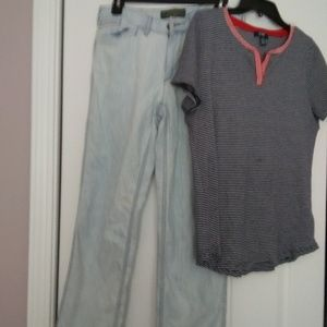 Chaps ss top LG  & LRL (Ralph Lauren)6P jeans